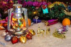 Lámpara de petróleo Foto de archivo libre de regalías