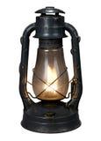 Lámpara de petróleo (con el camino de recortes { Imágenes de archivo libres de regalías