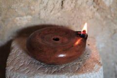 Lámpara de petróleo romana Fotos de archivo libres de regalías