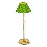 Lámpara de pie verde aislada en el fondo blanco Imagen de archivo libre de regalías