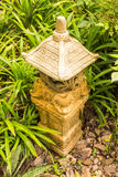 Lámpara de piedra Foto de archivo