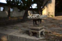 Lámpara de piedra Foto de archivo libre de regalías