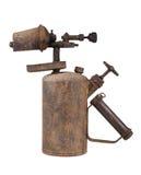 Lámpara de soldar vieja oxidada Foto de archivo