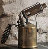 Lámpara de soplo de la parafina Imágenes de archivo libres de regalías