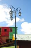 Lámpara de Steet en caminito en Buenos Aires Fotografía de archivo libre de regalías