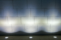 Lámpara de suelo y pared del mármol Fotos de archivo