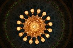 Lámpara de Sultan al Qaboos Grand Mosque Foto de archivo
