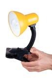 Lámpara de vector amarilla Imagen de archivo