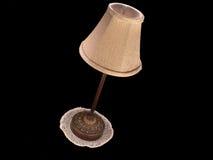 Lámpara de vector inclinada con el tapetito Fotografía de archivo libre de regalías