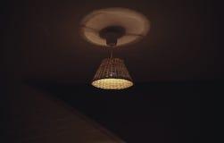 Lámpara decorativa de madera Imagen de archivo libre de regalías