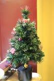 Lámpara del árbol de navidad Imagen de archivo libre de regalías