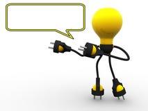 Lámpara del cable con área de texto vacía ilustración del vector