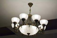 Lámpara del hierro labrado Fotos de archivo