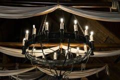 Lámpara del hierro redondo Imagen de archivo libre de regalías