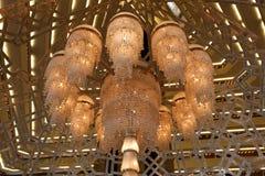 Lámpara del hotel de Sheraton en Doha Fotografía de archivo