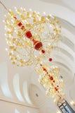 Lámpara del oro Foto de archivo libre de regalías