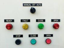 Lámpara del panel de control  Fotografía de archivo