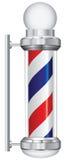 Lámpara del peluquero del símbolo Imágenes de archivo libres de regalías