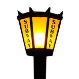 Lámpara del subterráneo de New York City Foto de archivo libre de regalías