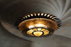 Lámpara del techo en las casas Batilo, Barcelona Foto de archivo libre de regalías