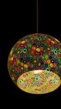 Lámpara del vidrio de la mancha de óxido Imagen de archivo libre de regalías