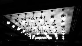 Lámpara del vintage de BW Imagen de archivo libre de regalías