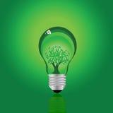 Lámpara ecológica stock de ilustración