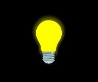 Lámpara eléctrica amarilla brillante ilustración del vector