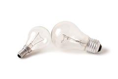 Lámpara eléctrica del bulbo dos Foto de archivo libre de regalías