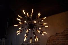 Lámpara eléctrica del bulbo viejo Fotos de archivo