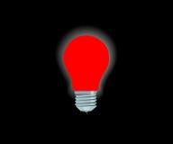 Lámpara eléctrica roja brillante Foto de archivo libre de regalías