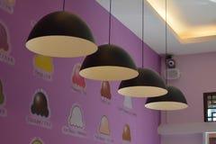 Lámpara en el café del helado Fotos de archivo libres de regalías