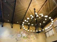 Lámpara en el edificio Fotos de archivo