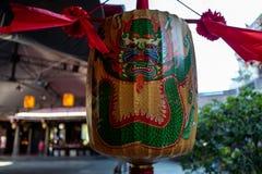 Lámpara en el templo de Confucio en Taipei, Taiwán fotos de archivo libres de regalías