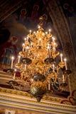 Lámpara en iglesia Imagen de archivo