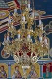 Lámpara en iglesia cristiana de la catedral Fotografía de archivo