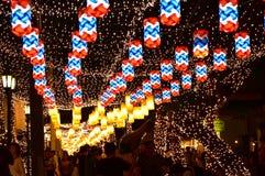 lámpara en la calle de la celebración Fotos de archivo libres de regalías