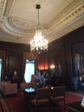 Lámpara en la casa Loma Mansion Canada Fotos de archivo libres de regalías