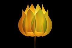 Lámpara en la dimensión de una variable de una flor Fotografía de archivo