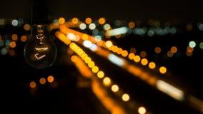 Lámpara en la noche Fotografía de archivo
