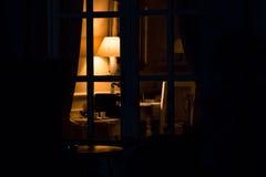 Lámpara en la oscuridad Fotografía de archivo libre de regalías