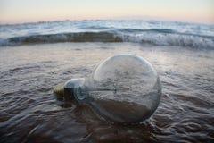 Lámpara en la playa Imágenes de archivo libres de regalías