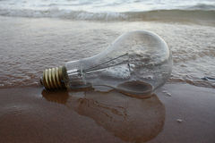 Lámpara en la playa fotografía de archivo libre de regalías