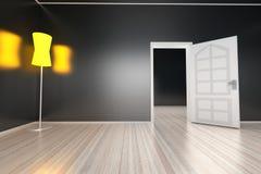 Lámpara en un cuarto vacío Imagen de archivo libre de regalías