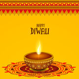 Lámpara encendida creativa para la celebración feliz de Diwali Foto de archivo libre de regalías