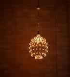 Lámpara encendida decorativa imagen de archivo