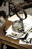 Lámpara envejecida imagen de archivo