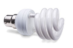 Lámpara fluorescente compacta imagen de archivo