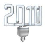 Lámpara fluorescente compacta (CFL) 2010 ilustración del vector