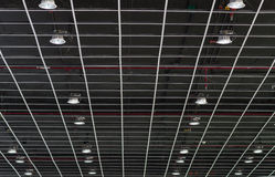 Lámpara fluorescente en el techo Imagen de archivo libre de regalías